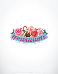 Exclusive Design: Candy Logo   Compatible FREE Business Card