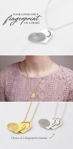 Browse our stunning memorial fingerprint necklaces using thumbprint picture. Thumbprint Necklace, Fingerprint Necklace, Grieving Gifts, Personalized Memorial Gifts, Handmade Jewelry, Custom Jewelry, Handmade Gifts, Valentines Gifts For Her, Memorial Jewelry