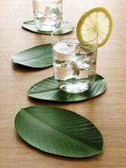 BaliHai Heliconia Leaf Coasters (Set of 4) by Design Ideas