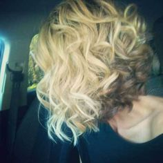 Curly Inverted Bob Haircut