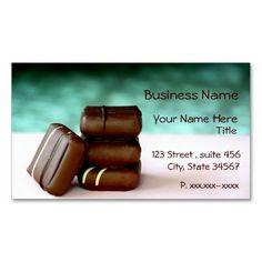 Chocolate Candies Business Cards