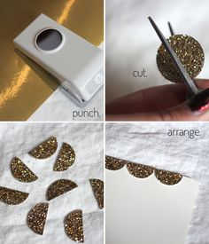 Weekend DIY: Glitter Note Cards | Stripes & Sequins