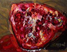 Pomegranate, oil on canvas by Melissa Barousse Sarat