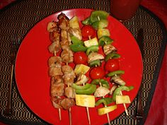 BBQ Teriyaki Pork Kabobs - Yummy!!      Believing it's Possible is half the battle / Take Shape For Life Weight Loss & Maintenance: Week 12 ~ Pork Kabobs!