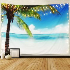 Discover the best beach themed tapestries and coastal wall tapestries. We love beach wall decor and tapestries are affordable and beautiful, which makes them a great option. Trippy Tapestry, Tapestry Nature, Tree Tapestry, Tapestry Wall Hanging, Hanging Flower Wall, Hanging Wall Art, Coconut Palm Tree, Beach Wall Decor, Beautiful Wall