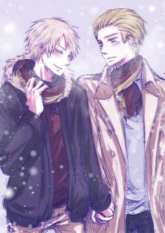 This pic really is beautiful winter...and warm somehow ;~:<3333 #Germancest ( sc:google+ ) @fujoshiotaku18