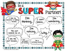 Early on this year I recognized a need in my class - metacognition. We started of the year by reading shorter, interesting articles. Partner Talk, Partner Reading, Teaching Reading, Teaching Ideas, Teaching Time, Guided Reading, Superhero Classroom Theme, Classroom Themes, Superhero School