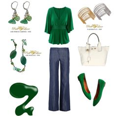 St. Patricks Day Green, created by parklanejewelry