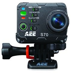 Today Deals 18% OFF AEE Technology S70 S70AEE Waterproof Video Camera with 10x Digital Zoom with 2-Inch LCD (Black) | Amazon:   Today Deals 18% OFF AEE Technology S70 S70AEE Waterproof Video Camera with 10x Digital Zoom with 2-Inch LCD (Black) | Amazon #TodayDeals #DailyDeals #DealoftheDay - Record your triumphs and capture your lifestyle with the worlds best HD action camera the AEE S70 Action Cam. The S70 Action Camera Kit sets the new standard for versatility. The camera itself is loaded…