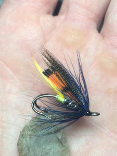 Another Connemara variant on a sz8 mustad, finished with a dyed cobalt blue partridge feather. By Jay Loftus