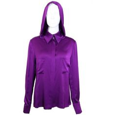 Preowned Chanel Purple Hoodie Shirt ($780) ❤ liked on Polyvore featuring tops, hoodies, purple, shirts, hooded sweatshirt, sleeve shirt, shirt hoodie, sweatshirt hoodies and hooded pullover