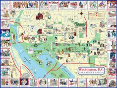 maps of monuments dc | Map of Washington DC
