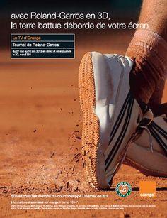 Roland Garros en #3D #TV d'#orange