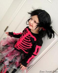 DIY Halloween Costume : DIY Skeleton Princess Costume