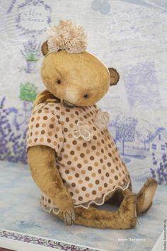 Купить Элька - бежевый, мишки тедди, мишка, тедди, теддик, медвежонок, игрушка ручной работы