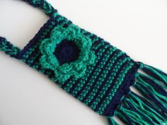 Crochet cell phone holder cozy case fringe and by MaggieMayandMe, $14.00