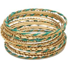 Amrita Singh Syeira Bangle Set (550 ARS) ❤ liked on Polyvore featuring jewelry, bracelets, accessories, pulseras, pulseiras, stackers jewelry, amrita singh bangles, amrita singh jewellery, amrita singh jewelry and gold tone jewelry