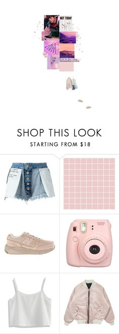 """ tag // not today "" by sophie-totoro ❤ liked on Polyvore featuring Unravel, Hello Kitty, New Balance, Fujifilm and Chicwish"