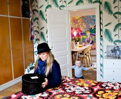 Cute, with Cole and Son wallpaper.