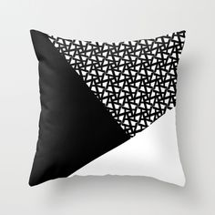 Geometric Throw Pillow (meeting room)