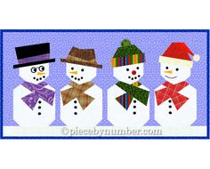 Paper pieced Snowman quilt block pattern, foundation piecing PDF quilt pattern, holiday patterns, Christmas patterns, snowman quilt patterns by PieceByNumberQuilts on Etsy https://www.etsy.com/listing/62747134/paper-pieced-snowman-quilt-block-pattern