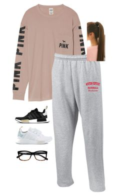 """""""Untitled #86"""" by chloe-madison-barnes on Polyvore featuring Victoria's Secret, adidas and Bobbi Brown Cosmetics"""
