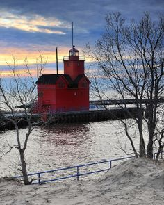 Holland Harbor Lighthouse - Known as (Big Red) Holland, Michigan by Michigan Nut, via Flickr