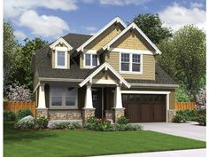 ePlans Craftsman House Plan – Narrow Lot Craftsman With Wide Appeal – 2577 Square Feet and 4 Bedrooms from ePlans – House Plan Code HWEPL765...