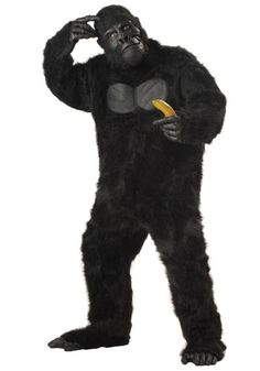 Goof around this Halloween season in this Gorilla Adult Costume! The costume includes a black bodysuit with attached chest piece, scary mask, hands, and matching foot covers. Gorilla Costumes, Adult Halloween, Halloween Ideas, Halloween Horror, Spirit Halloween, Halloween Decorations, Animal Costumes, Mascot Costumes, Mardi Gras