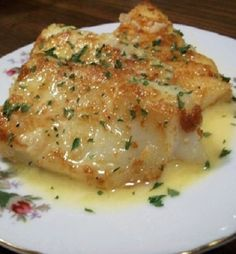 Oven baked sole with lemon sauce. Sole fillets with delicious homemade sauce baked in oven.