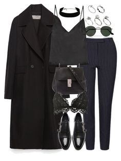 """Untitled #9754"" by nikka-phillips ❤ liked on Polyvore featuring Ray-Ban, Zara, Topshop, Protagonist, Chloé, The Kooples, Isabel Marant and ASOS"