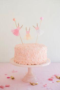 Ballerina Tutu Cake Topper DIY | Oh Happy Day! | Bloglovin'
