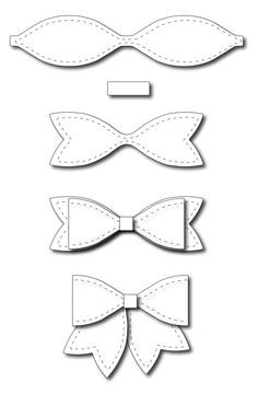Frantic Stamper - Precision Dies - Large Solid Paper Bow-Our large bow measures wide without the tails, or wide with the tails. This bow Diy Hair Bows, Diy Bow, Ribbon Hair, Felt Crafts, Diy And Crafts, Paper Crafts, Felt Flowers, Paper Flowers, Paper Bows