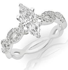 0.71 Carat GIA Certified Marquise Cut / Shape Eternity Love Twisting Split Shank Diamond Engagement Ring ( J Color , VVS1 Clarity ) Chandni Jewels,http://www.amazon.com/dp/B00G5FFSSS/ref=cm_sw_r_pi_dp_efRttb0VRPTPKFW9