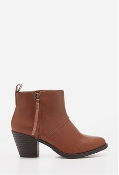 Zippered Faux Leather Booties | FOREVER21- $27.90