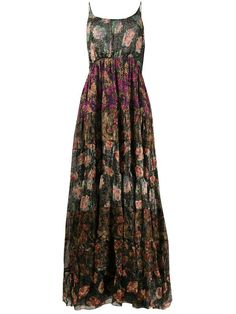 Shop online black Mes Demoiselles floral print tiered dress as well as new season, new arrivals daily. Hippie Skirts, Hippie Dresses, Hippie Outfits, Maxi Dresses, Floral Print Skirt, Floral Prints, Everyday Dresses, Types Of Dresses, Tiered Dress