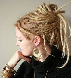 'up do' dreads - looking forward to mine being long enough to do this