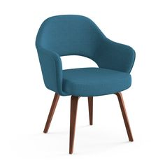 Saarinen Executive Arm Chair | Knoll in blue, yellow and green