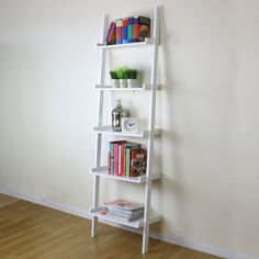 5 Tier Ladder Style Shelf Unit. Perfect for Use As A Book Shelf, Display Unit or Bathroom Rack. Great For Practical Storage Such as Bathroom Towels/Toiletries or Kitchen Utensils/Cook Books. Stylish Storage Solution for Any Room in the House. | eBay!