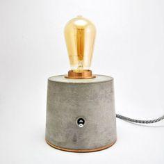 Lámpara De Hormigón. Lámpara de mesa de cemento Vintage. Lámpara industrial. Lámpara Edison Especial.
