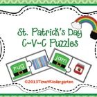$3  57 C-V-C puzzles with a St. Patrick's Theme.  NOTE: This set is included in my St. Patrick's Day Literacy Center PackIf you have bought this pack...