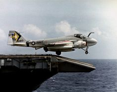 An KA-6D Intruder of Attack Squadron (VA) 165 launches from the flight deck of the carrier Constellation (CVA 64) while operating in the South China Sea on August 28, 1974