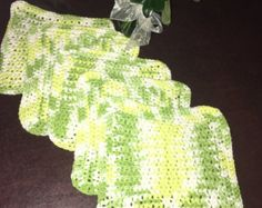 Handmade Crochet Dishcloths Washcloths gift by likeknitting