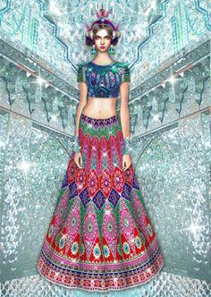 Manish Arora fashion illustration