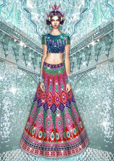 Manish Arora fashion illustration