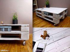 Oryginalny stolik z palet, meble z palet, upcykling Mielec - image 2