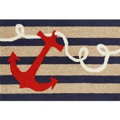 Anchor and Rope Door Mat