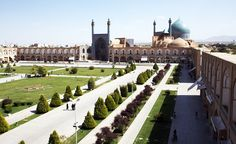 Naqsh-e Jahan Square in Isfahan, Iran, is bounded by four monumental structures: the mosaic-tiled Royal Mosque to the south, the Portico of Qaysariyyeh to the north, the Mosque of Sheykh Lotfollah to the east, and the magnificent entrance to Ali Qapu palace and the royal gardens to the west.      (Nick Taylor/Wikimedia Commons)    « Back  123456789101112131415…23  Next »