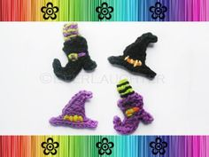 Crochet Witch's Hat and Boot Applique Pattern