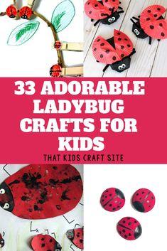 33 of the Cutest Ladybug Crafts for Kids - ThatKidsCraftSite.com